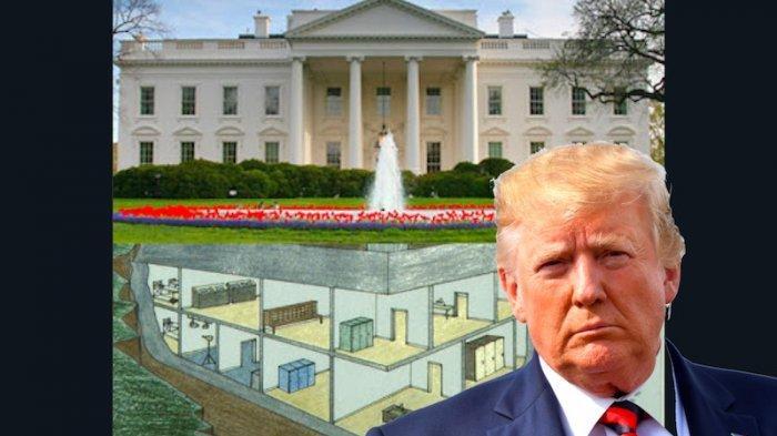 Ada Apa di Dalam Bunker Gedung Putih Tempat Sembunyi Donald Trump Saat Kerusuhan AS