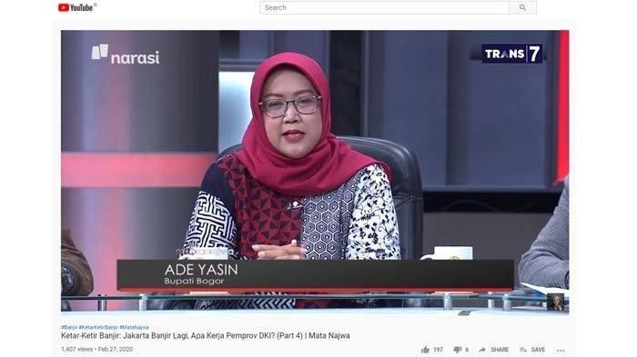 Bogor Selalu Disalahkan Saat Jakarta Banjir, Begini Penjelasan Bupati Ade Yasin