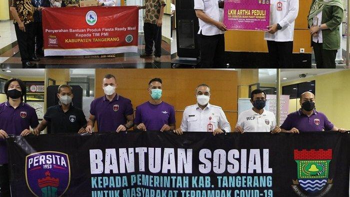 Bupati Zaki Iskandar Terima Bantuan Sembako dari Perusahaan dan Organisasi Untuk Warga Tangerang