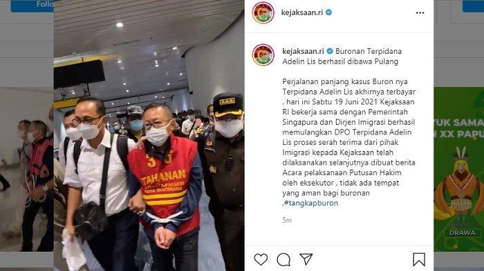 Video Detik-detik Buronan Korupsi Adelin Lis Ditangkap di Singapura Tiba di Indonesia,Ini Tampangnya
