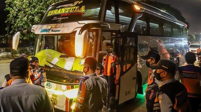 Sisir Terminal Bayangan di Jakarta Utara, Dua Bus AKAP Terjaring Razia