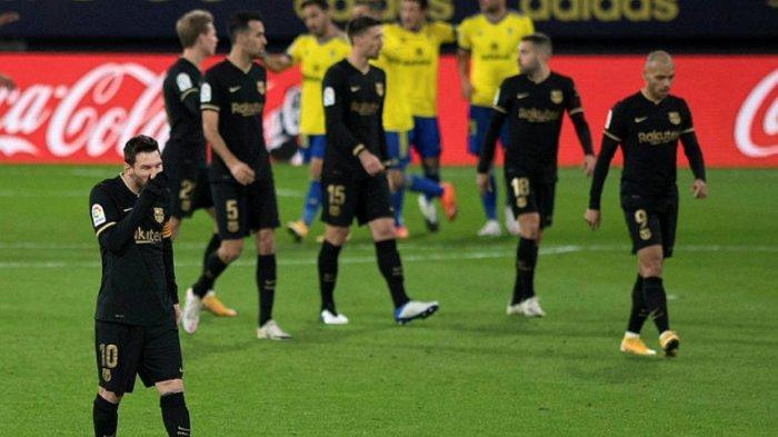 Hasil Akhir Cadiz vs Barcelona 2-1, Kekalahan Keempat Barca, Peringkat Tak Beranjak di Papan Tengah
