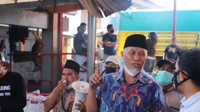 Calon Gubernur Sumatera Barat nomor urut 4, Mahyeldi Ansharullah berkunjung ke Bukik Batabuah, Koto Baru, Kabupaten Agam pada Kamis (12/11/2020).