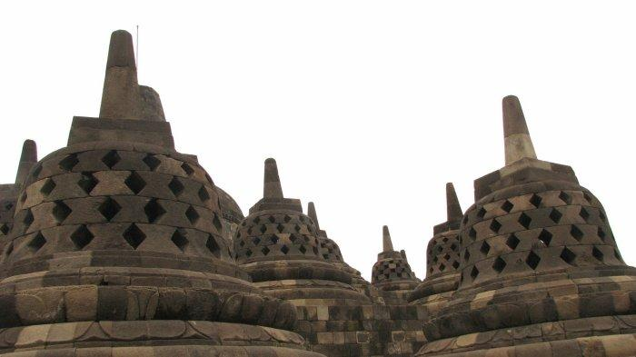 Stupa Candi Borobudur, Magelang, Jawa Tengah.
