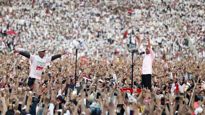 Berita Foto: Meriahnya Konser Putih Bersatu 01 Jokow-Maruf di GBK Senayan