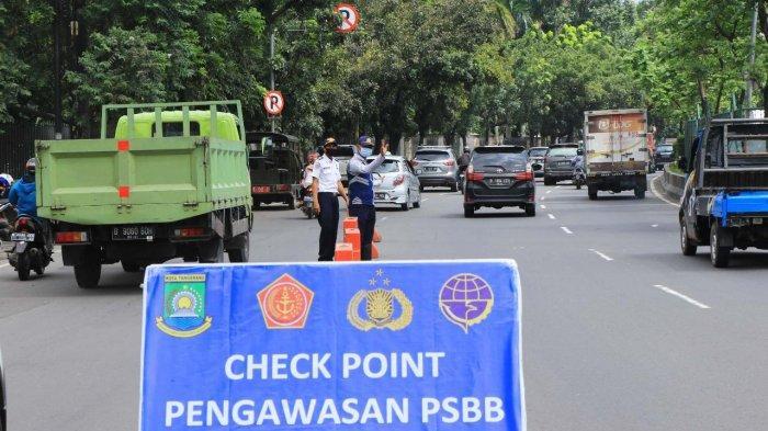 Pemkot Tangerang Kerahkan Sejumlah Unsur Petugas di Check Point untuk Memaksimalkan Penerapan PPKM