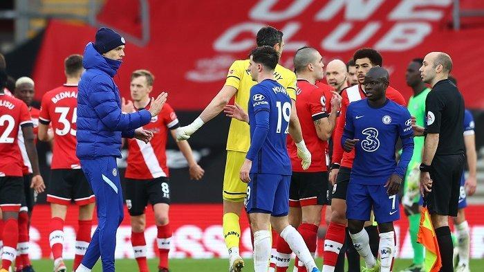 Chelsea dan Southampton mengakhiri laga pekan ke-25 Liga Inggris 2020/2021 dengan skor imbang 1-1, Sabtu (20/2/2021) pukul 19.30 WIB.