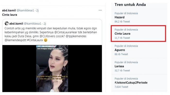 Cinta Laura trending karena gaya hidup hematnya sebagai seorang artis. Banyak netizen memuji meski ada pula yang tak percaya dan nyinyir dengan gaya hidupnya.