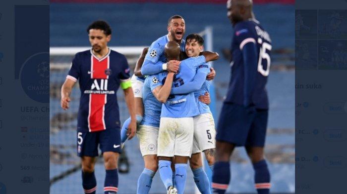 Kalahkan PSG 2-0, Manchester City Cetak Rekor Pertama Kali Tembus Babak Final Liga Champions