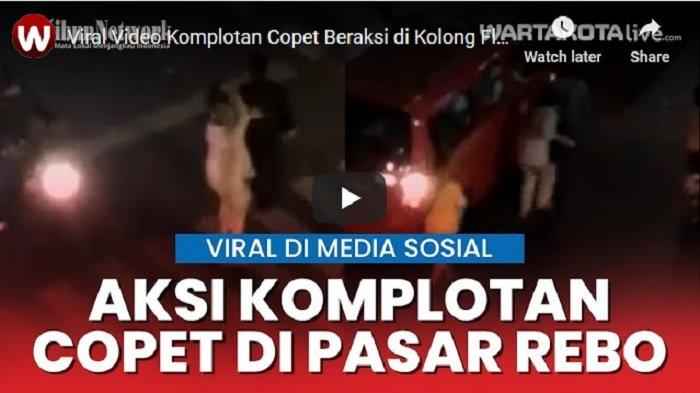 VIDEO VIRAL Pencopet Beraksi di Perempatan Pasar Rebo Jakarta Timur, Copet 3 Korban Sekaligus