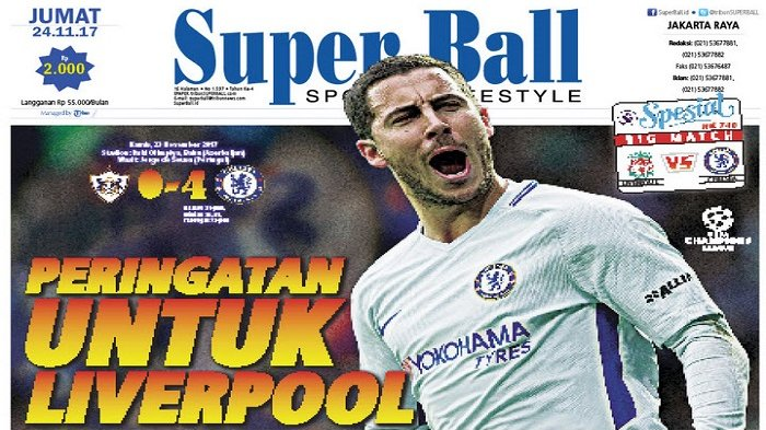 Peringatan Eden Hazard untuk Liverpool
