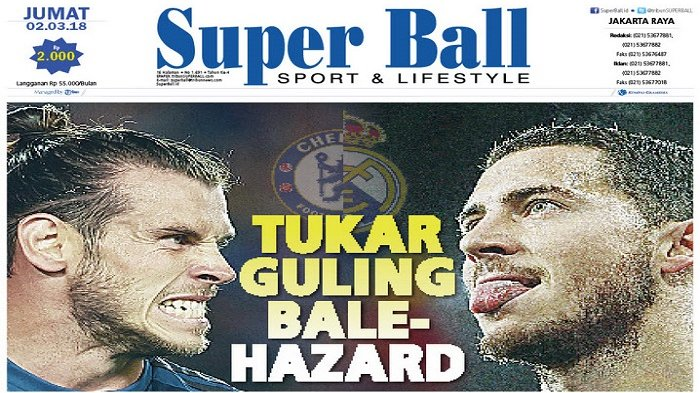 Gareth Bale Bersedia Ditukar dengan Eden Hazard