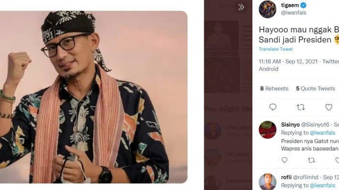 Twit Iwan Fals: Hayooo mau nggak Bang Sandi jadi Presiden