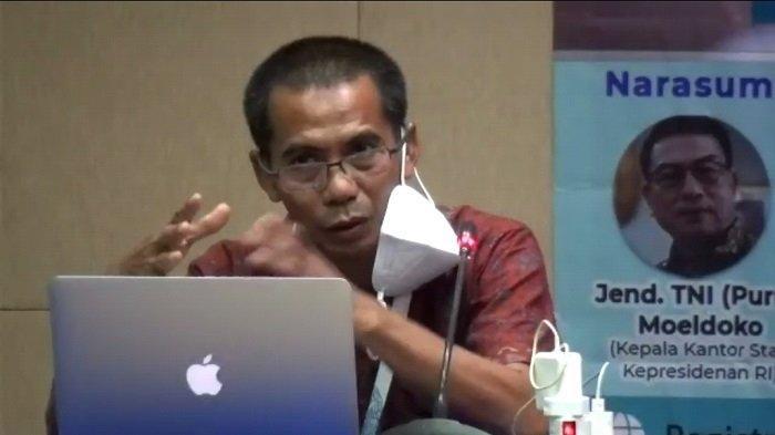 CEO Tribun Dahlan Dahi dalam diskusi Hari Pers Nasional 2021, Minggu (7/2/2021).