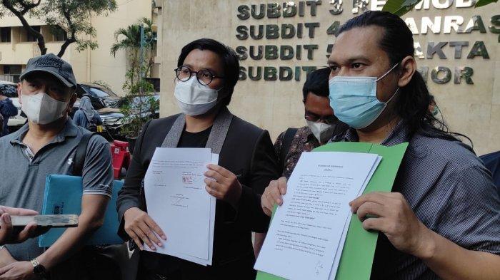 Perjanjian damai David NOAH dan Lina Yunita terkait kasus penggelapan uang di Mapolda Metro Jaya, Semanggi, Jakarta Pusat, Jumat (10/9/2021).
