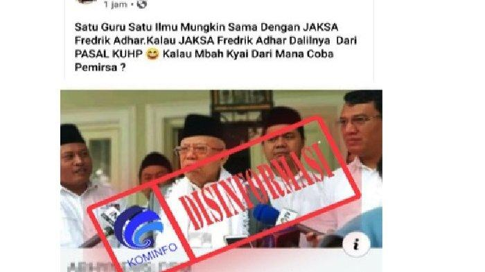 Cek fakta benarkah Wapres KH Maruf Amin mengatatakan