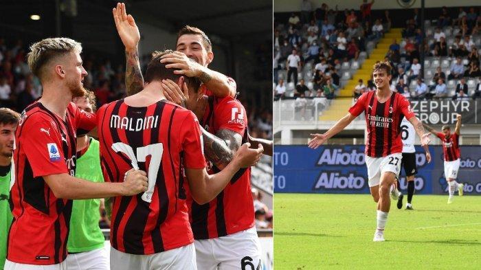 Hasil dan Klasemen Liga Italia, Daniel Maldini Tegang Namun Akhirnya Cetak Gol, AC Milan Memimpin