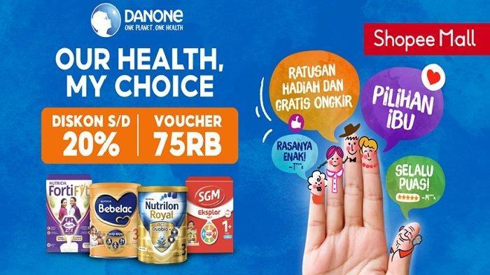 Danone Specialized Nutrition Beri Inspirasi Memilih Nutrisi Lebih Baik melalui Kampanye di Shopee