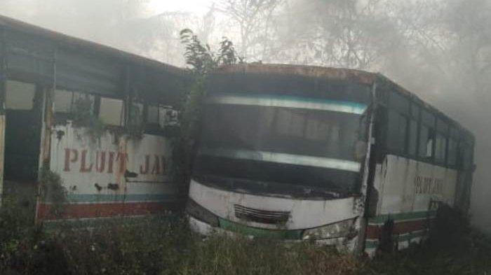 Sejumlah Bus Terbakar di Tangerang yang Menelan Kerugian Mencapai Rp 360 juta