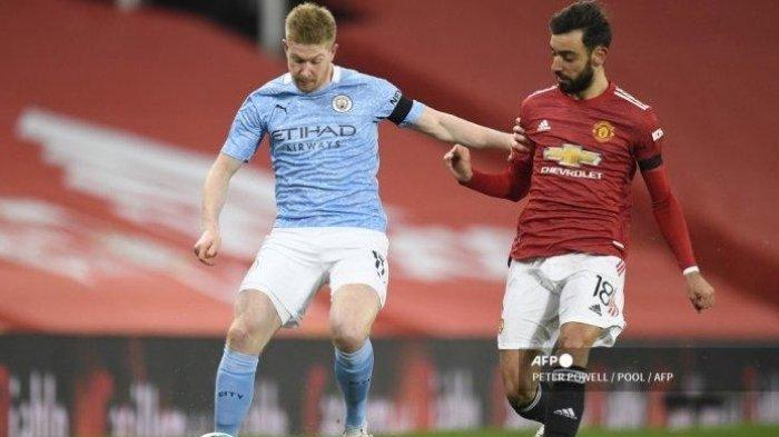 Prediksi Pemain dan Live Streaming Manchester City vs Manchester United, De Bruyne vs Fernandes