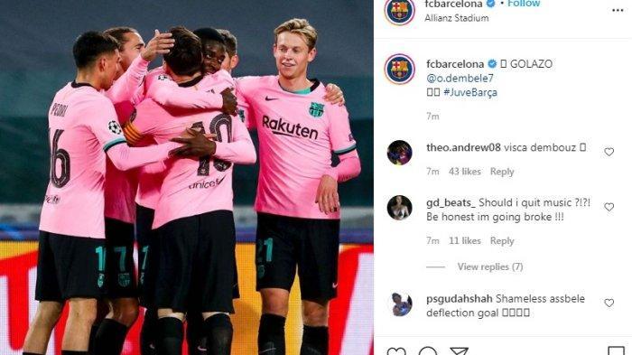 Hasil Babak Pertama Juventus Vs Barcelona 0 1 Hasil Umpan Silang Messi Dan Tendangan Cerdik Dembele Warta Kota