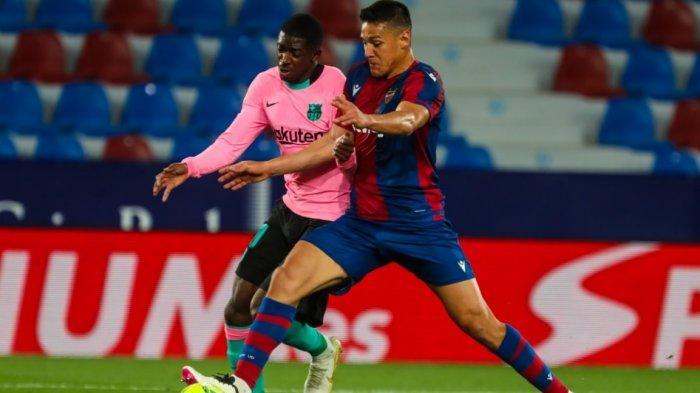 Gawat, Levante vs Barcelona 3-3, Peluang Barcelona Menjadi Juara Liga Spanyol Kembali Menjauh