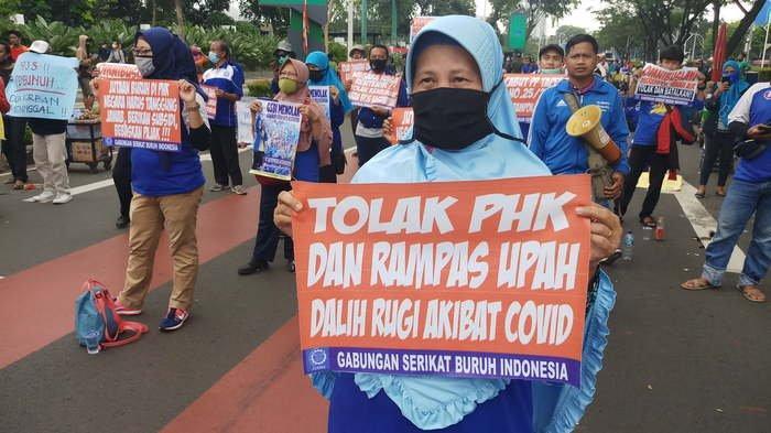 Buruh Banten Kembali Goyang Jakarta Menentang UU Cipta Kerja