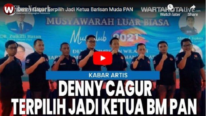 VIDEO Denny Cagur Terpilih Jadi Ketua Barisan Muda Penegak PAN