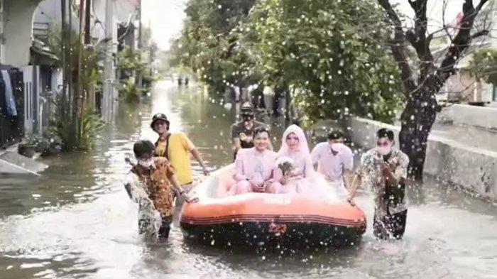 Resepsi Pernikahannya Gagal Karena Kebanjiran, Pasutri Ini Minta Pemkot Bekasi Benahi Kali Jambe