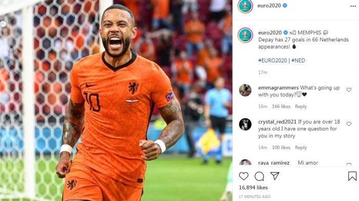 Hasil Babak Pertama Belanda vs Austria 1-0 Lewat Memphis Depay, Oranye Berpeluang Lolos 16 Besar