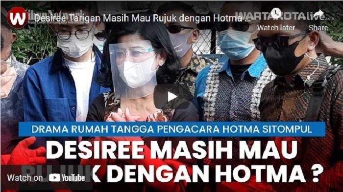 VIDEO Ditanya Apakah Ada Upaya Rujuk dengan Hotma Sitompul, Begini Jawabab Desiree Tarigan