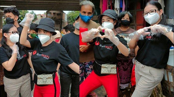 Bersama baikhati.id, Dewi Perssik dan Tiara Marleen Bagi-bagi Sembako ke Warga di Kampung Pemulung