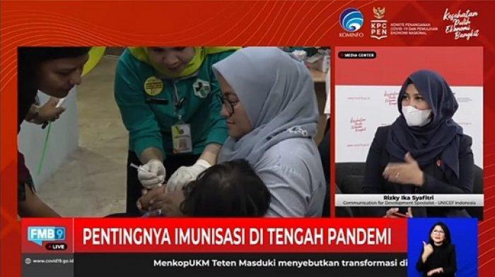 Dialog Produktif bertema Penting Imunisasi di Tengah Pandemi, yang diselenggarakan KPCPEN