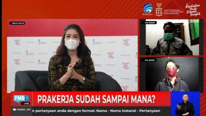Dialog Produktif, Prakerja Sudah Sampai Mana? yang diselenggarakan KPCPEN di Jakarta, Kamis (22/4/2021).