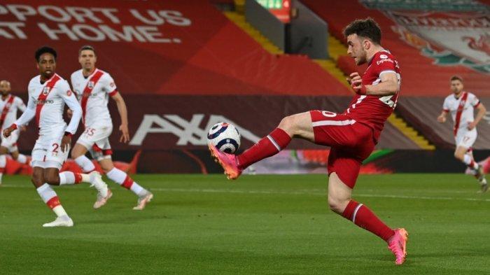 Hasil Liverpool vs Southampton 2-0, The Reds Naik ke Peringkat 6 Geser Tottenham Hotspurs