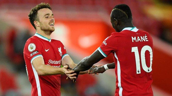 Diogo Jota menjadi pencetak gol ketiga terbanyak buat Liverpool dibelakang Sadio Mane dan Mohamed Salah