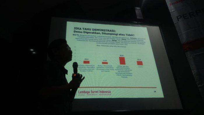 VIDEO: Survei LSI Tunjukkan Respon Masyarakat Terhadap Demo Mahasiswa dan Perppu KPK