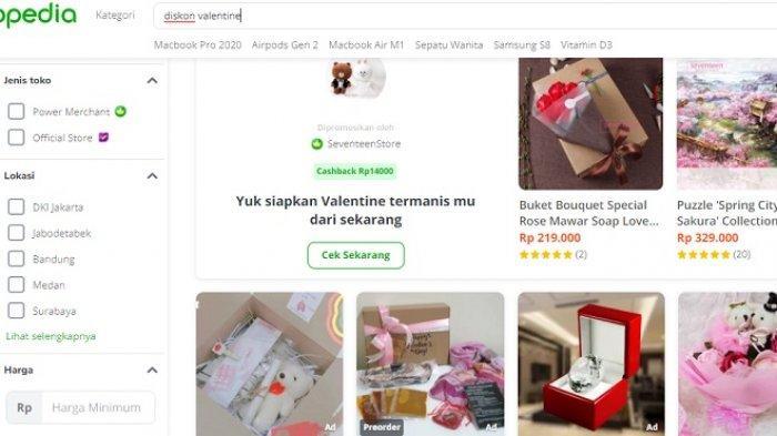 Diskon Kado Valentine di Tokopedia, Mulai Dari Coklat Valentine Sampai Bunga