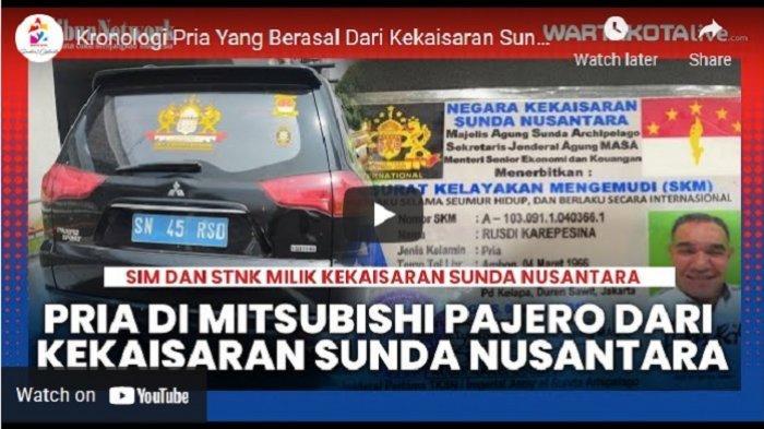 VIDEO Kronologi Polisi Mengamankan Pria yang Mengaku Berasal dari Kekaisaran Sunda Nusantara