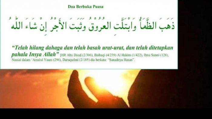 Doa Buka Puasa Ramadhan Dan Sunnah Yang Dilakukan Nabi Muhammad Saw Halaman All Warta Kota