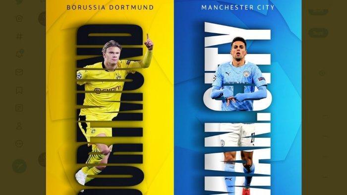 Starting XI dan Live Streaming Borussia Dortmund vs Manchester City, Adu Trisula, Haaland vs Foden
