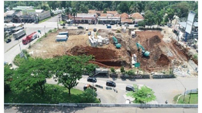 Pelaksanaan konstruksi penataan Simpang Sentul.