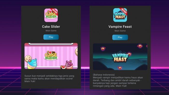 Ada Permainan Baru Game Vampire Feast dan Game Cake Slider