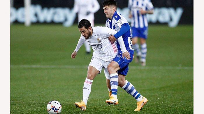 Eden Hazard membuat satu gol dan satu assist saat melawan Deportivo Alaves