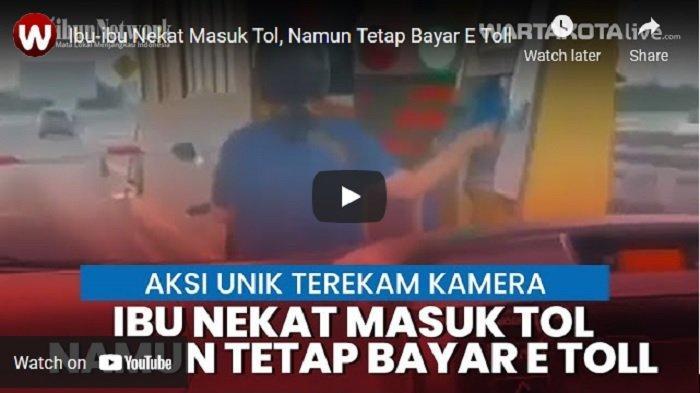 VIDEO VIRAL Emak-emak Naik Sepeda Motor Masuk Jalan Tol, Tetap Bayar Pakai E Toll di Gerbang Angke 1