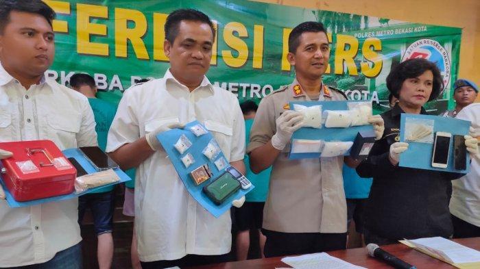 6 Pengedar Narkoba Senilai Rp 600 Juta Ditangkap Polisi di Bekasi