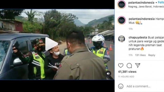 'Kang Mus'  Epy Kusnandar dicegat di Pos Penyekatan saat mudik Lebaran