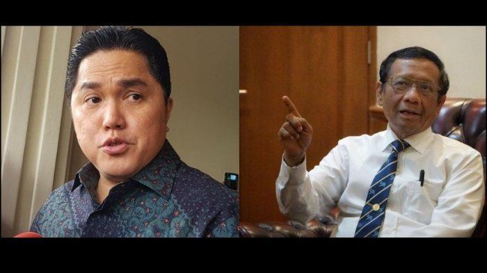 Erick Thohir Minta Dukungan Mahfud MD Terkait Skandal Jiwasraya, Saat Ini  Erick Sedang Diserang