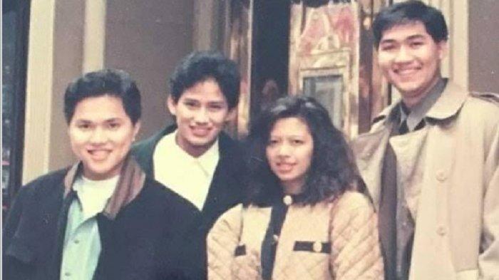 Erick Thohir Unggah Foto Lawas, Ada Sandiaga Uno dan M Lutfi Waktu Masih Muda: Dulu Nongkrong Bareng