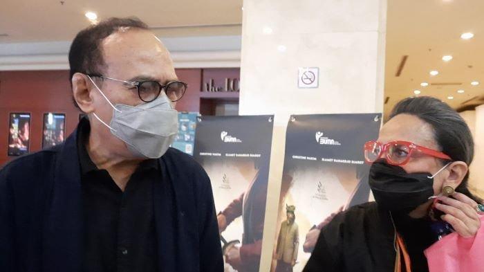 Erros Djarot dan Christine Hakim berbincang di Bioskop XXI Plaza Senayan, Jakarta Pusat, Kamis (20/5/2021). Erros Djarot dan Christine Hakim adalah sutradara dan pemeran Tjoet Nja Dhien di film Tjoet Nja Dhien yang pertama kali diputar di bioskop Indonesia pada 1988.